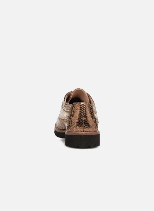 Zapatos con cordones Vanessa Wu ERGO Oro y bronce vista lateral derecha