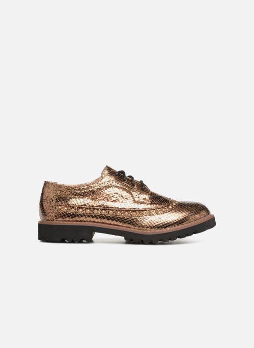 Zapatos con cordones Vanessa Wu ERGO Oro y bronce vistra trasera