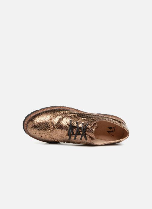 Zapatos con cordones Vanessa Wu ERGO Oro y bronce vista lateral izquierda