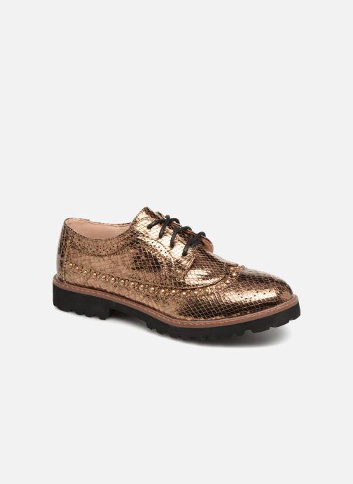Zapatos con cordones Vanessa Wu ERGO Oro y bronce vista de detalle / par