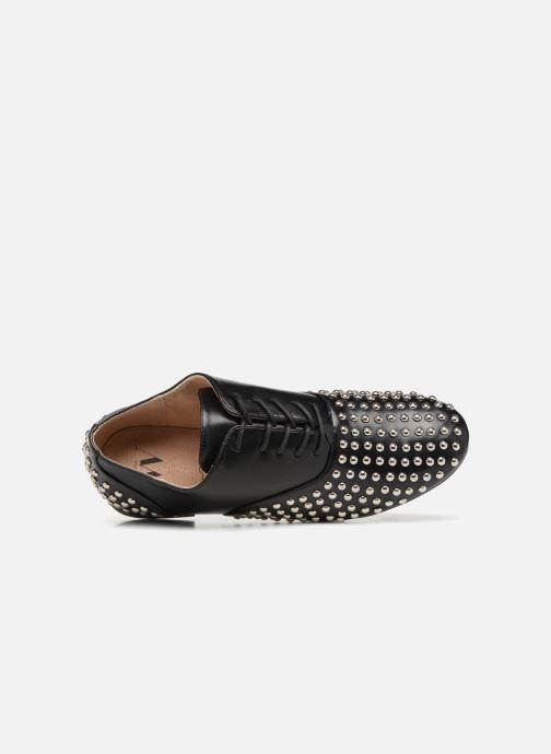 Zapatos con cordones Vanessa Wu LEDD Negro vista lateral izquierda