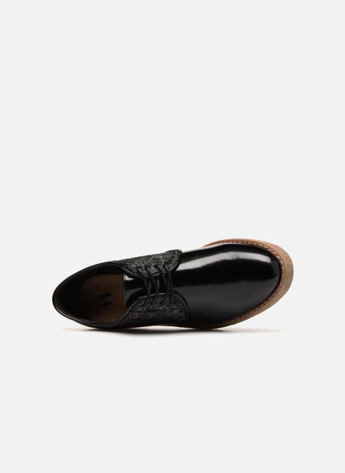 Zapatos con cordones Vanessa Wu NEREN Negro vista lateral izquierda