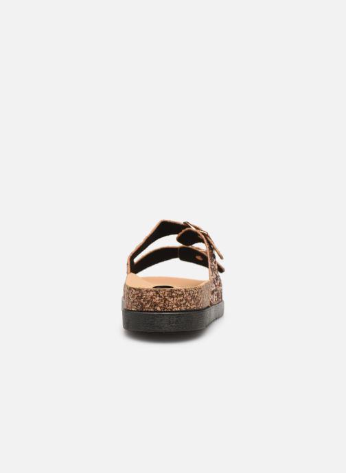 Zuecos I Love Shoes Therika Rosa vista lateral derecha