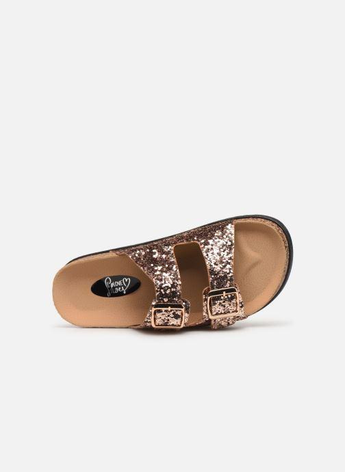 Zuecos I Love Shoes Therika Rosa vista lateral izquierda