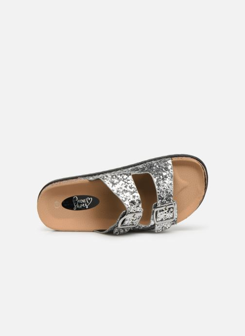 Zoccoli I Love Shoes Therika Argento immagine sinistra