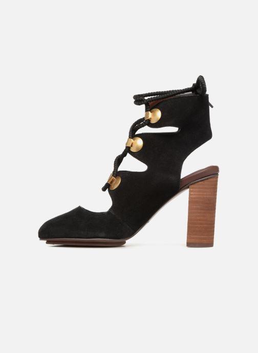 Sandales et nu-pieds See by Chloé Edna 10 Noir vue face