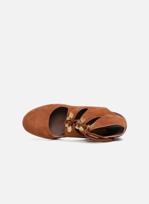 Sandales et nu-pieds See by Chloé Edna 10 Marron vue gauche
