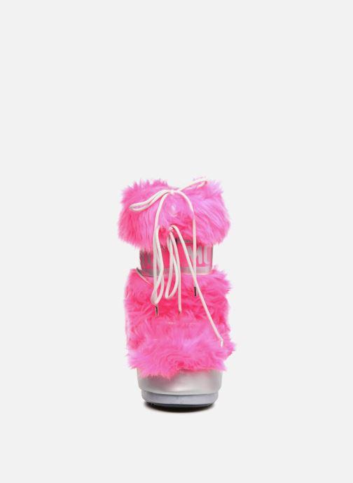 Chaussures de sport Moon Boot Moon Boot Classic Premium Pop F.Fur Rose vue portées chaussures