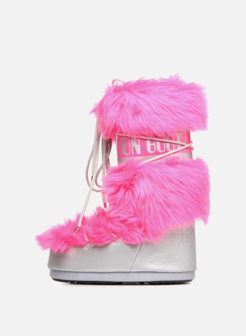 Sport shoes Moon Boot Moon Boot Classic Premium Pop F.Fur Pink front view