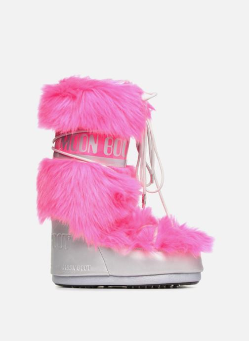 Sport shoes Moon Boot Moon Boot Classic Premium Pop F.Fur Pink back view