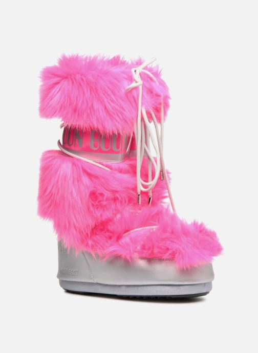 Sport shoes Moon Boot Moon Boot Classic Premium Pop F.Fur Pink detailed view/ Pair view