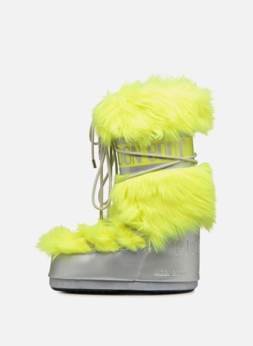 Sport shoes Moon Boot Moon Boot Classic Premium Pop F.Fur Yellow front view