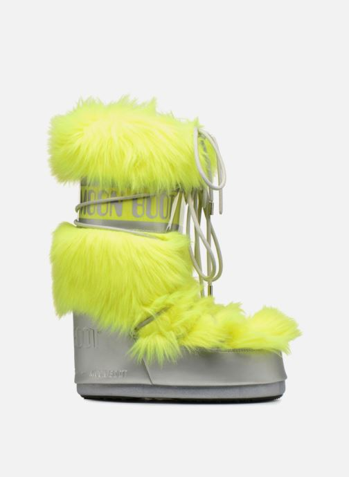 Sport shoes Moon Boot Moon Boot Classic Premium Pop F.Fur Yellow back view