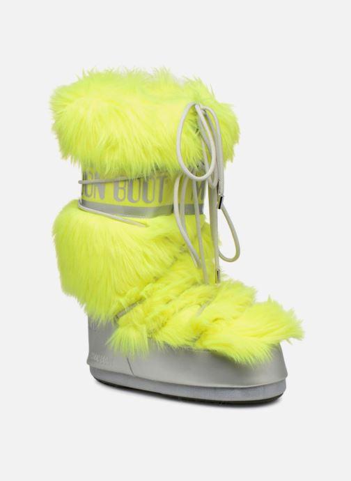 Chaussures de sport Moon Boot Moon Boot Classic Premium Pop F.Fur Jaune vue détail/paire