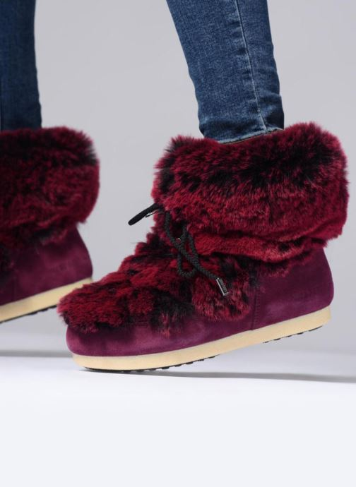 Ankle boots Moon Boot Moon Boot Fside Mid Prem.Soft Burgundy view from underneath / model view