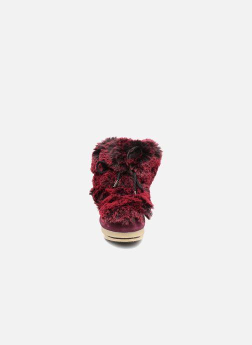 Bottines et boots Moon Boot Moon Boot Fside Mid Prem.Soft Bordeaux vue portées chaussures