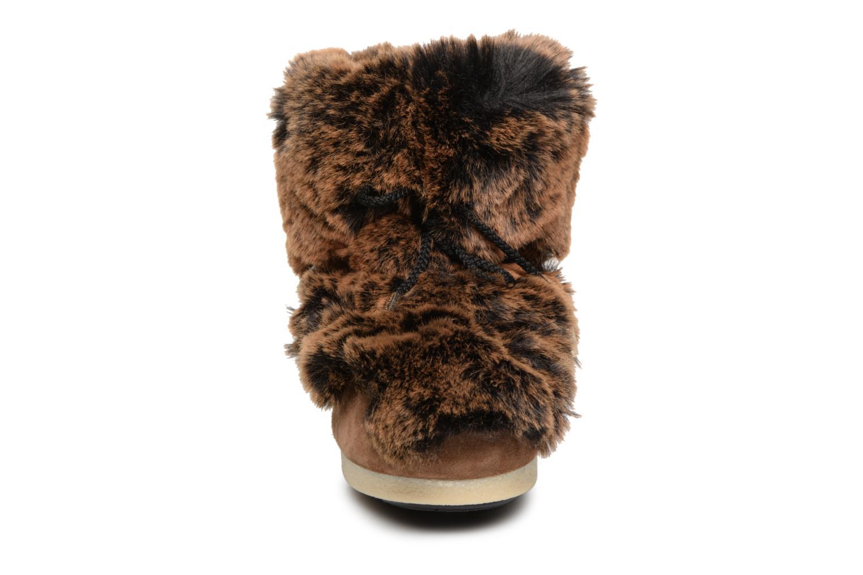 Bottines et boots Moon Boot Moon Boot Fside Mid Prem.Soft Marron vue portées chaussures