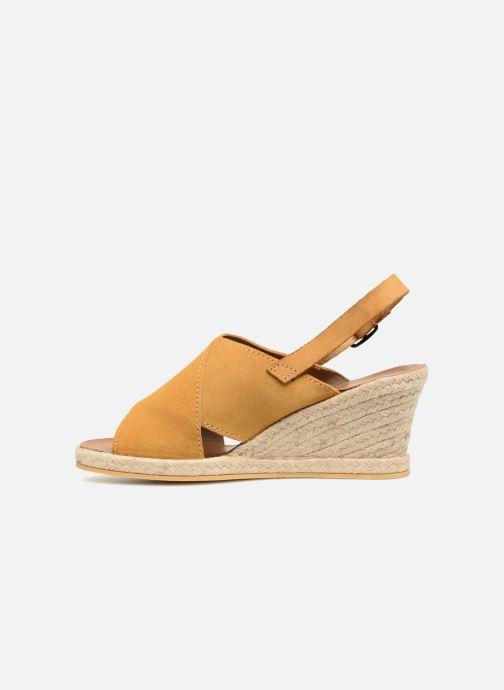 Sandales et nu-pieds Monoprix Femme Sandales compensées Jaune vue face