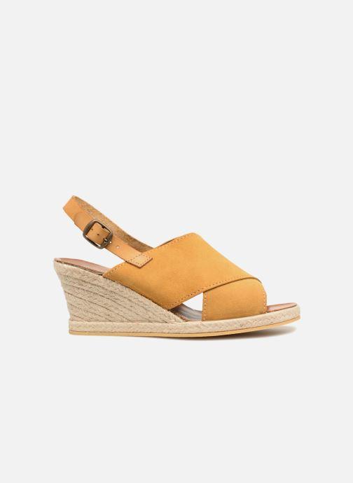 Sandali e scarpe aperte Monoprix Femme Sandales compensées Giallo immagine posteriore