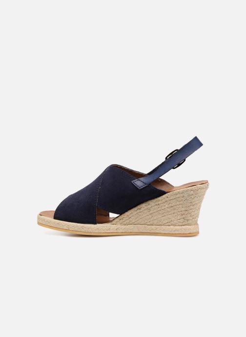 Sandales et nu-pieds Monoprix Femme Sandales compensées Bleu vue face