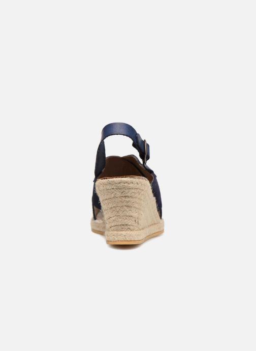 Sandalias Monoprix Femme Sandales compensées Azul vista lateral derecha