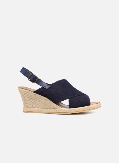 Sandales et nu-pieds Monoprix Femme Sandales compensées Bleu vue derrière