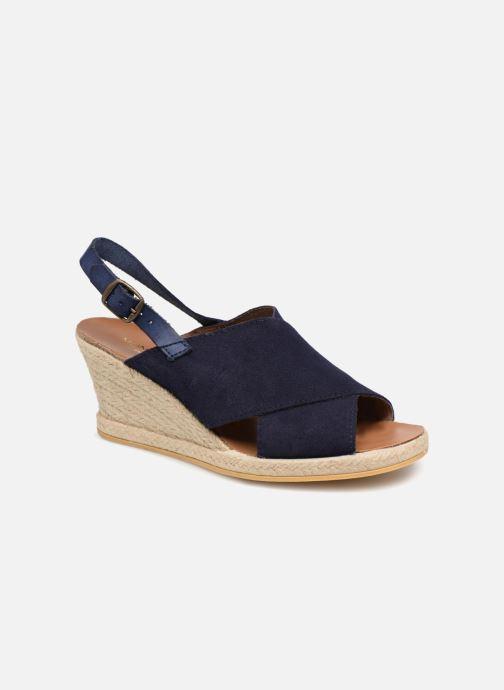 Sandales et nu-pieds Monoprix Femme Sandales compensées Bleu vue détail/paire