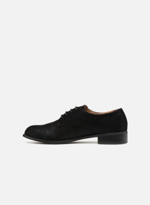 Lace-up shoes Monoprix Femme Derby Black front view