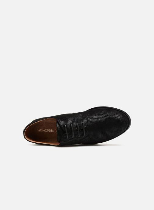 Chaussures à lacets Monoprix Femme Derby Noir vue gauche