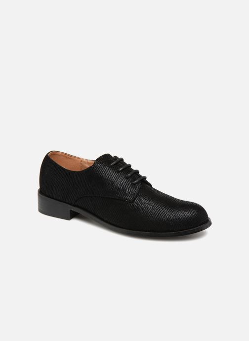 Lace-up shoes Monoprix Femme Derby Black detailed view/ Pair view