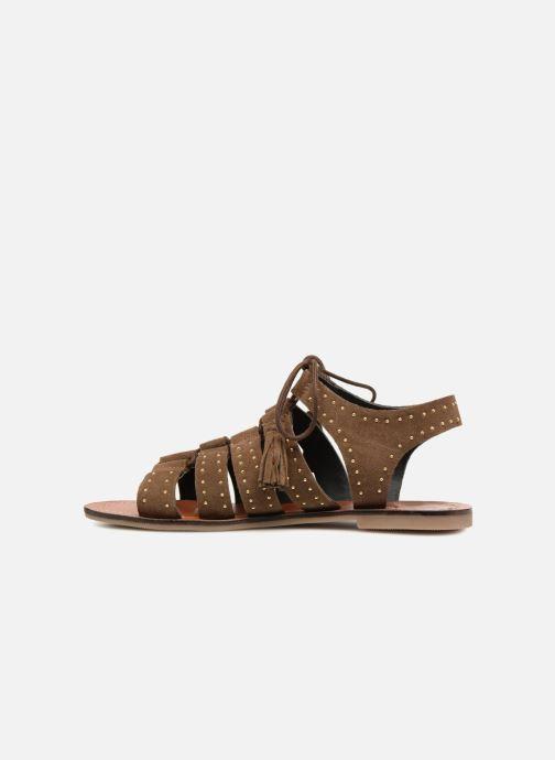 Sandales et nu-pieds Monoprix Femme Sandales à lacets cloutées Vert vue face