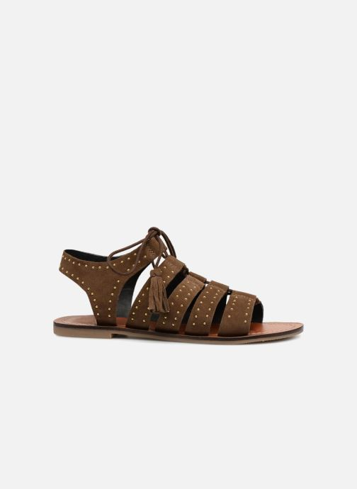 Sandales et nu-pieds Monoprix Femme Sandales à lacets cloutées Vert vue derrière