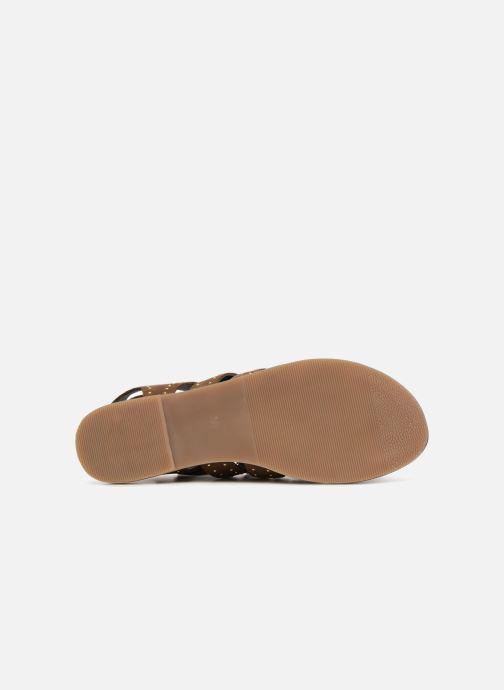 Sandales et nu-pieds Monoprix Femme Sandales à lacets cloutées Vert vue haut