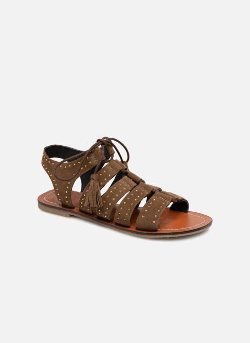 Sandales et nu-pieds Monoprix Femme Sandales à lacets cloutées Vert vue détail/paire