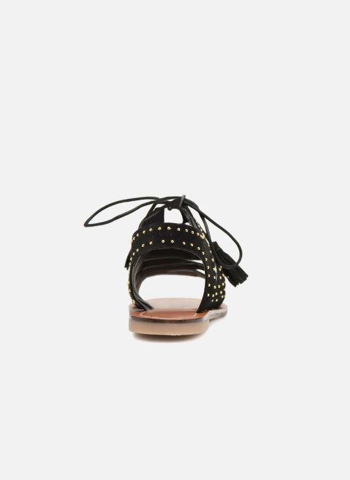 Sandales et nu-pieds Monoprix Femme Sandales à lacets cloutées Noir vue droite