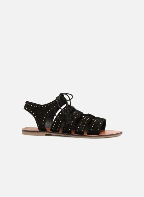 Sandales et nu-pieds Monoprix Femme Sandales à lacets cloutées Noir vue derrière