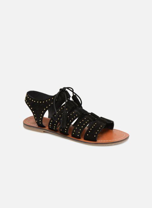 Sandales et nu-pieds Monoprix Femme Sandales à lacets cloutées Noir vue détail/paire