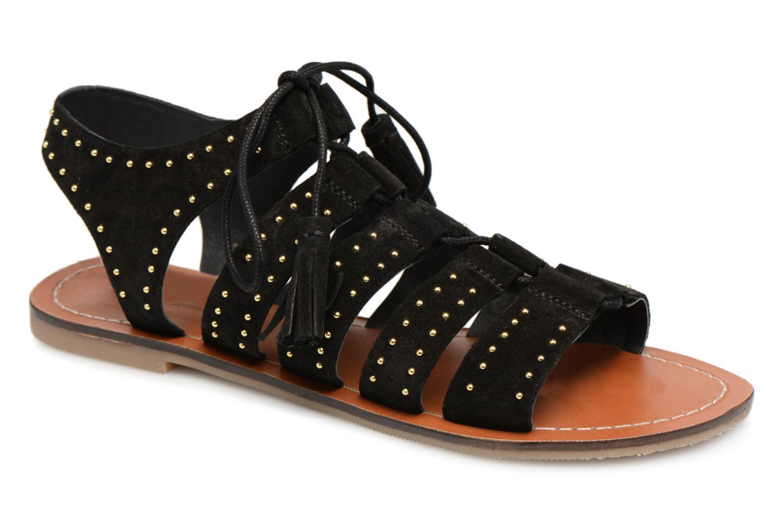 Sandales à lacets cloutées