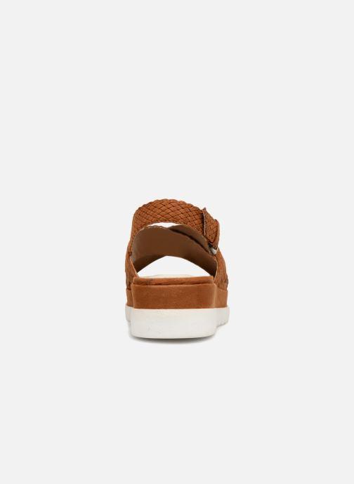 Sandales et nu-pieds Monoprix Femme Sandales à plateforme Marron vue droite