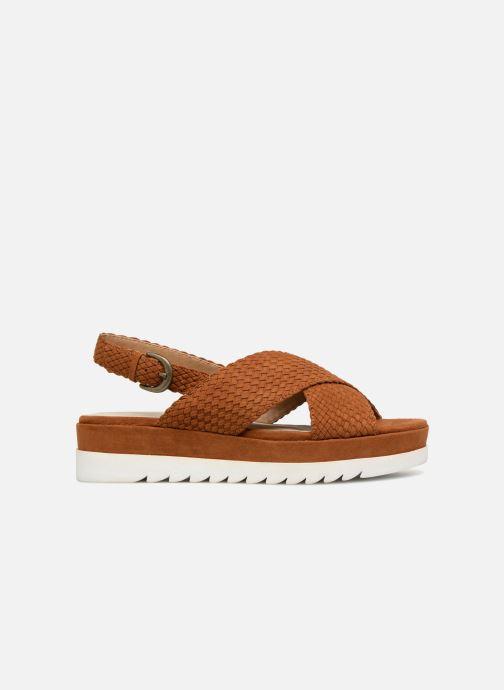 Sandales et nu-pieds Monoprix Femme Sandales à plateforme Marron vue derrière
