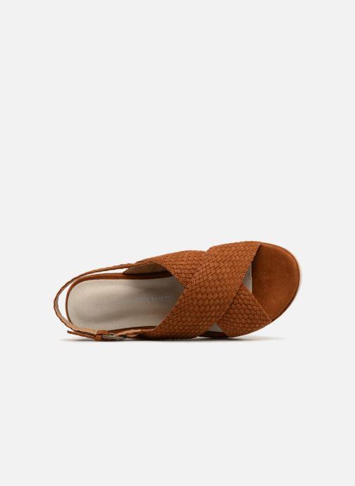 Sandales et nu-pieds Monoprix Femme Sandales à plateforme Marron vue gauche