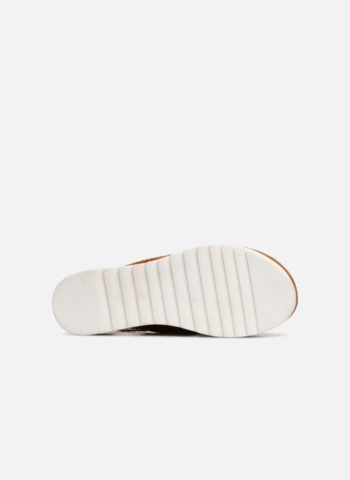Sandales et nu-pieds Monoprix Femme Sandales à plateforme Marron vue haut
