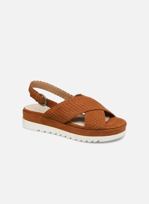 Sandales et nu-pieds Monoprix Femme Sandales à plateforme Marron vue détail/paire