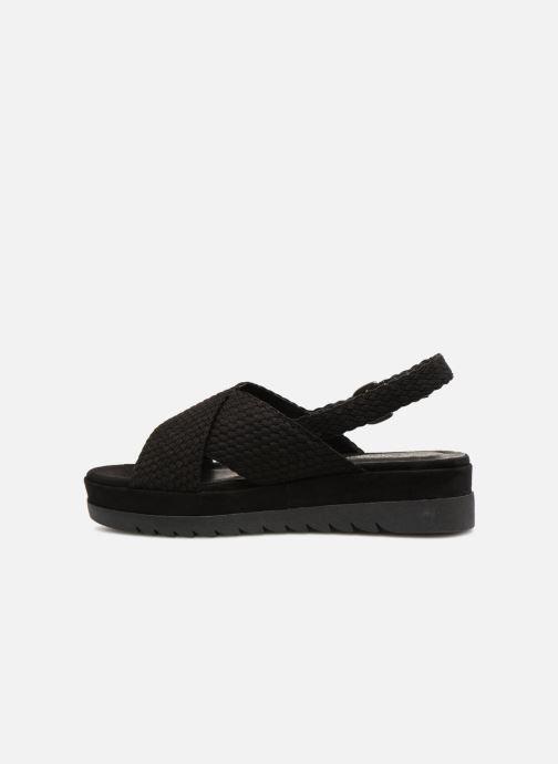 Sandales et nu-pieds Monoprix Femme Sandales à plateforme Noir vue face