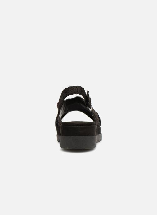 Sandales et nu-pieds Monoprix Femme Sandales à plateforme Noir vue droite