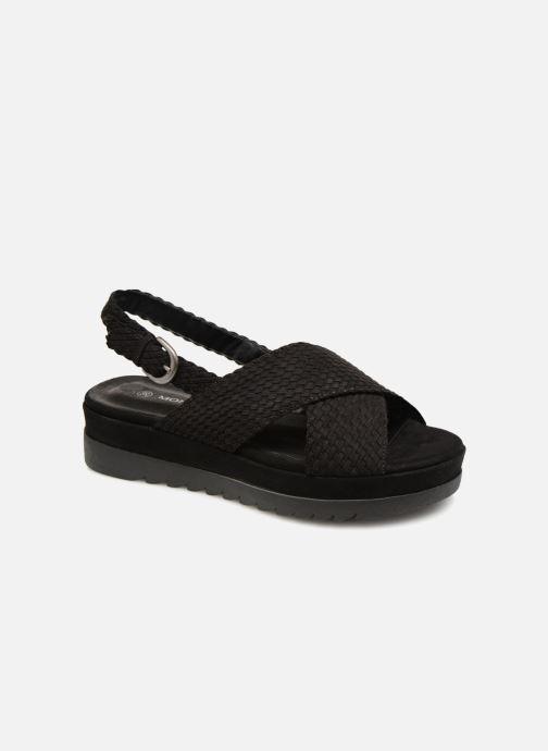 Sandales et nu-pieds Monoprix Femme Sandales à plateforme Noir vue détail/paire