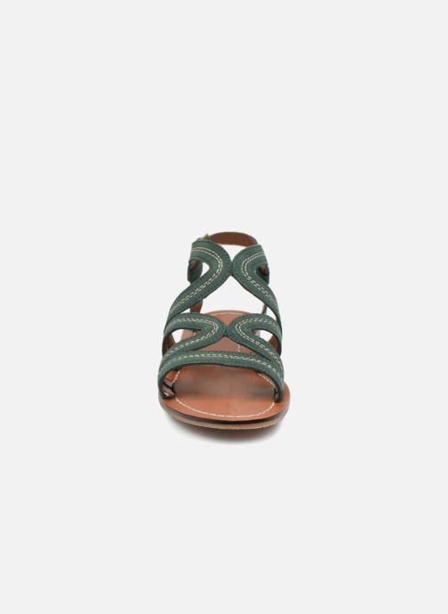 Sandales et nu-pieds Monoprix Femme Sandales Vert vue portées chaussures