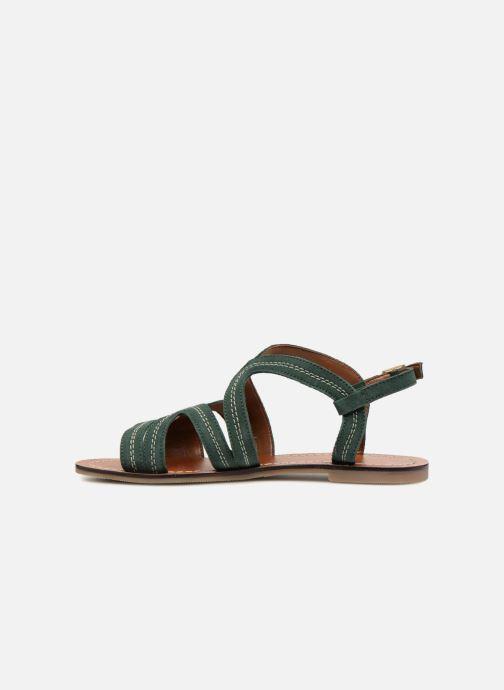 Sandals Monoprix Femme Sandales Green front view