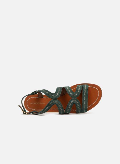 Sandales et nu-pieds Monoprix Femme Sandales Vert vue gauche