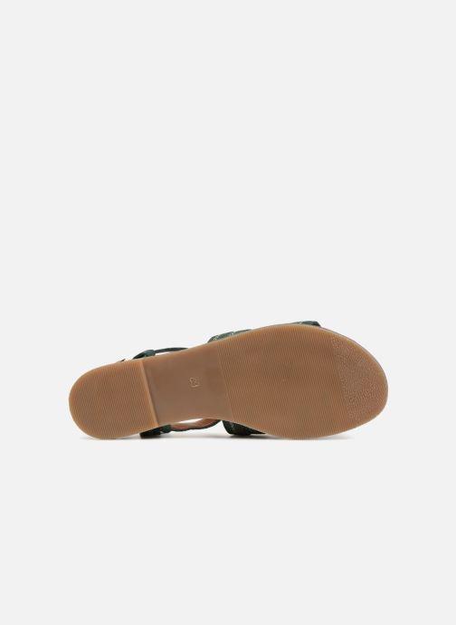 Sandales et nu-pieds Monoprix Femme Sandales Vert vue haut